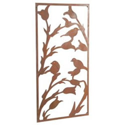 Small Image of Wonderful Rustic Steel Garden Metal Bird Screen 1.8m tall ideal screen fence