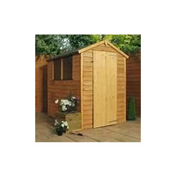 Small Image of 6 x 4 Overlap Single Door Apex Wooden Garden Shed