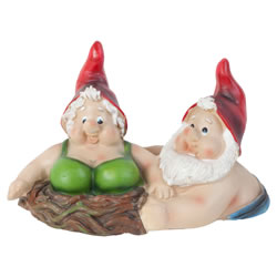 Small Image of Novelty Floating Mr & Mrs Polyresin Garden Pond Ornament