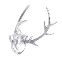Small Image of Large Aluminium Trophy Antler Plaque Wall Art