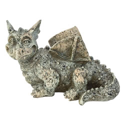 Small Image of Stone Look Polyresin Dragon Gargoyle Garden Statue Ornament