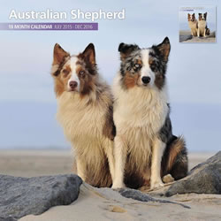 Small Image of Australian Shepherd - 2016 18 Month Traditional Calendar
