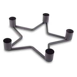 Small Image of Star Shaped Black Metal Christmas Table Decoration Holder for Five Candles