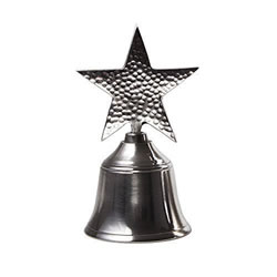 Small Image of Metal Hand Bell with Star Design Handle Christmas Accessory