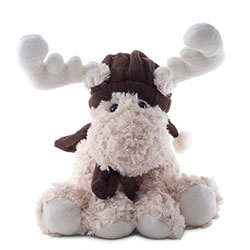 Small Image of Ruben or Reid the Large 30cm Cream or Brown Plush & Fluffy Sitting Christmas Reindeer (Cream)