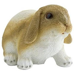Small Image of Realistic Brown Floppy Ear Bunny Rabbit Polyresin Garden Ornament