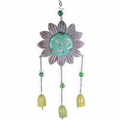 Small Image of Hanging Flower Face Garden Wind Chime