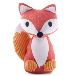 Small Image of Orange Fabric Fox Doorstop Home Accessory