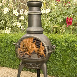 Small Image of Bronze 95cm Lisbon Cast Iron/steel Chiminea Chimenea Patio Heater