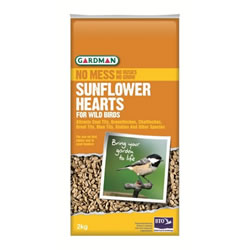 Small Image of Gardman Sunflower Hearts for Wild Birds 2kg A05170