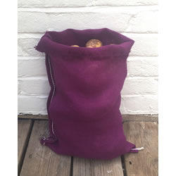 Small Image of Nutley's Purple Coloured Hessian Potato Sack Vegetable Storage Bag 30 x 45cm