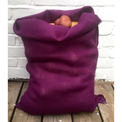 Small Image of 3 x Nutley's Purple Coloured Hessian Potato Sack Vegetable Storage Bag 50 x 80cm
