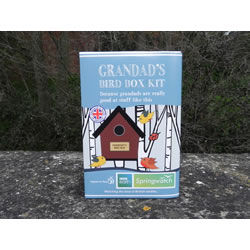 Small Image of Apples to Pears Springwatch Grandad's Bird Box Kit Gift Blue