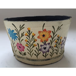 Small Image of Nutley's Small Cream Round Recycled Tyre Garden Planter