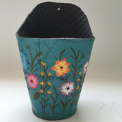 Small Image of Nutley's Pink Round Recycled Tyre Wall Planter