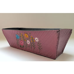 Small Image of Nutley's Double Pack Rectangular Recycled Tyre Planter Hand Painted
