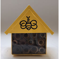 Small Image of Nutley's Yellow Miniature Insect House with Bee Decoration