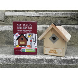 Small Image of Apples to Pears Springwatch Dad's Bird Box Kit Gift Blue Tits, Sparrows, Robins