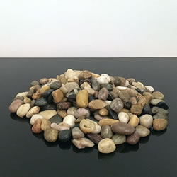 Small Image of 1kg New Assorted Natural Browns Decorative Stones Pebbles Table Decoration Pot Vase Garden