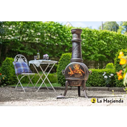 Extra image of La Hacienda Grape Extra Large Cast Iron Chiminea