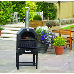 Extra image of La Hacienda Multi-Function Outdoor Steel Pizza Garden Oven