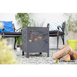 Small Image of La Hacienda Minnesota Modern Steel Fire Basket Firepit
