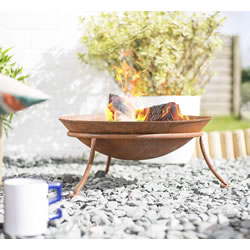 Small Image of La Hacienda Kutu Oxidised Cast Iron Firepit with Steel Stand