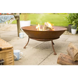 Extra image of La Hacienda Ipata Oxidised Cast Iron Firepit with Steel Stand