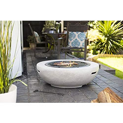 Small Image of La Hacienda Barcelona Terrazzo effect Magnesia Firepit with Grill