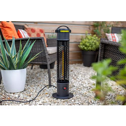 Small Image of La Hacienda Black Series Tauri Portable Tower Heater - Carbon Fibre element, 1200W, IP55