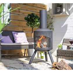 Extra image of La Hacienda Steel Mesh Body Chiminea