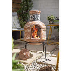 Extra image of La Hacienda 75cm High Patron Chiminea Chimenea + BBQ Grill