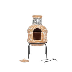 Small Image of La Hacienda 75cm High Patron Chiminea Chimenea + BBQ Grill