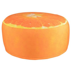 Small Image of Fallen Fruits Outdoor Orange Pouffe (BK013)