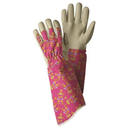 Small Image of Briers Oriental Floral Gauntlet Gloves Garden Outdoors