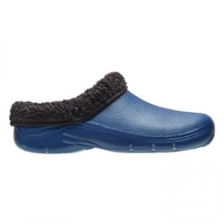 Small Image of Briers Navy Blue Thermal Clogs Size 6