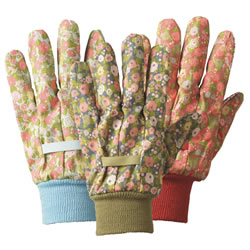 Small Image of Briers Orangery Triple Pack Gardening Gloves Floral Outdoors