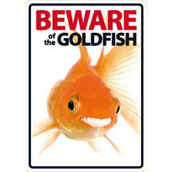 Small Image of Beware Of The Goldfish