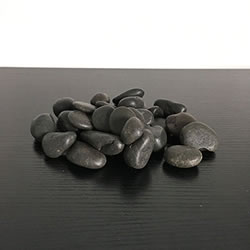 Small Image of 1kg New Black Natural Decorative Stones Pebbles