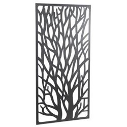 Small Image of New! Wonderful Black coloured Steel Garden Metal Tree Screen 1.8m tall - ideal for a screen fence or wall mounting and climbing plants!