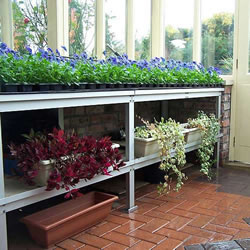 Small Image of Heavy Duty Greenhouse Benching - Two Tier - 18ft long x 24