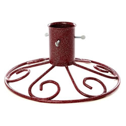 Small Image of Tom Chambers 13cm (5inch) Sleigh Base Christmas Tree Stand - Mulberry (CT027RED)