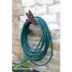Small Image of New Cast Iron Butterfly Garden Hose Holder