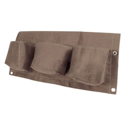 Small Image of BloemBagz Urban Garden Brown 3 pockets Fabric Planter Air Pruning