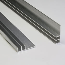 Small Image of Pack of 10 - Aluminium Extrusion 'F' Section 125cm long