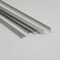 Small Image of Pack of 5 - Aluminium Extrusion Flat Bar 250cm long