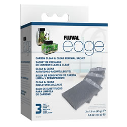 Small Image of Fluval Edge Carbon Clean and Clear Sachets
