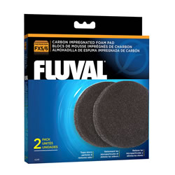 Small Image of Fluval FX5/FX6 Carbon Impregnated Foam Pads (2pcs)