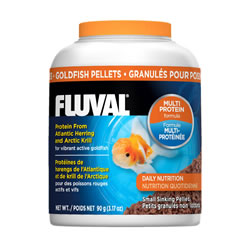 Small Image of Fluval Goldfish 1mm Sinking Pellets 90g