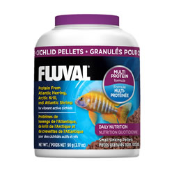 Small Image of Fluval Cichlid 1mm Sinking Pellets 90g